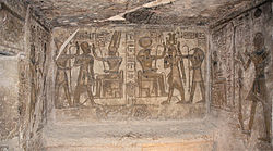 Abu Simbel, Ramesses Temple, chamber decoration, Egypt, Oct 2004.jpg
