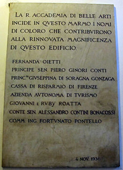 Accademia di belle arti di firenze wikipedia accademia di belle arti di firenze lapide 1936g sciox Image collections