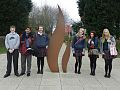 Adityajit Singh Kang (second from left in red Scholar Blazer & blue Scarf) with Classmates at Abbotsholme School, Rocester, Uttoxeter, Staffordshire, England, UK.jpg