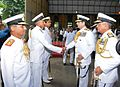 Admiral RK Dhowan accompanied by Vice Admiral Satish Soni meeting Flag Officers at Southern Naval Command.jpg