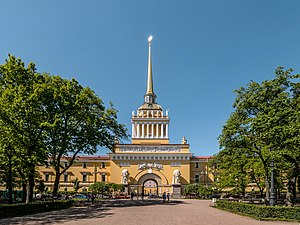 Administrative divisions of Saint Petersburg - The Admiralty building is located in Admiralteysky Municipal Okrug