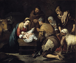 Adoration of the Shepherds - Bartolomé Esteban Murillo c. 1657