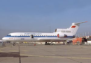 Yakovlev Yak-42 - Aeroflot Yak-42 at the 1977 Paris Air Show