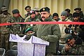 Afghan National Army Brig. Gen. Mohammed Akyam Sameh, center, the commander of the 2nd Brigade, 205th Corps, speaks during a ribbon-cutting ceremony marking the opening of the Regional Artillery Training Center 131230-Z-HP669-002.jpg