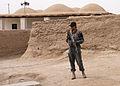 Afghan and coalition forces patrol western Kandahar village DVIDS545436.jpg