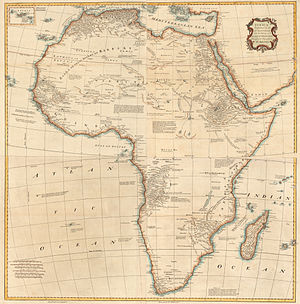 Malachy Postlethwayt - Map of Africa from The Universal Dictionary of Trade and Commerce.