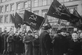 Czechoslovak Socialist Republic - Pro-Communist demonstrations before the coup d'état in 1948