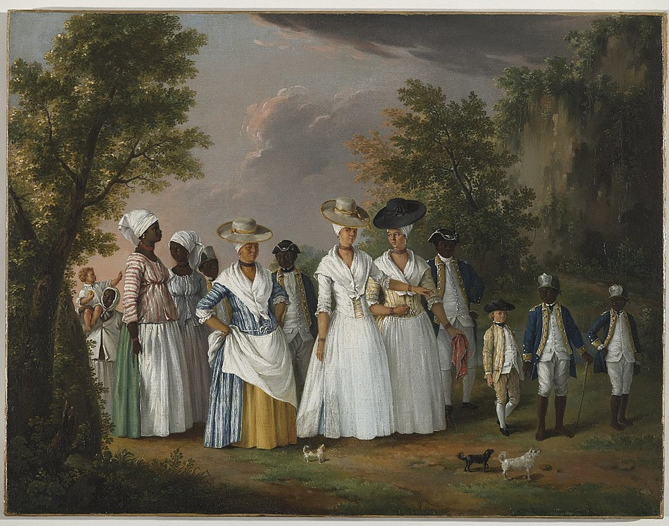 Agostino Brunias. Free Women of Color with Their Children and Servants in a Landscape, ca. 1770-1796