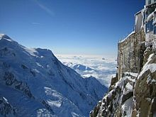 Mont blanc , europas højeste bjerg hvis kaukasus ikke medregnes