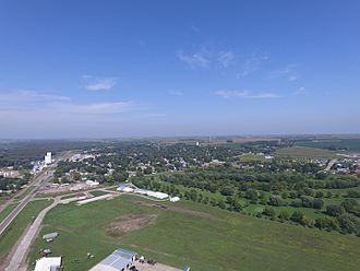 Akron, Iowa - Akron, Iowa as seen from the industrial park on the south edge of town.