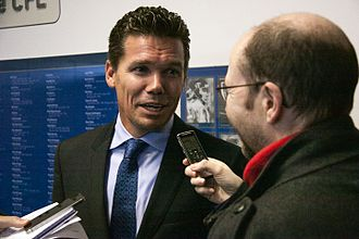 Alan Koch (soccer) - Alan Koch being interviewed after he was appointed as Whitecaps FC 2's head coach