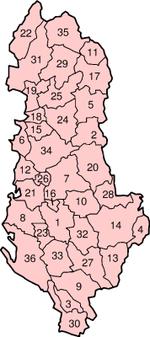 Distritos de Albania