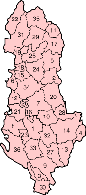 Districts of Albania