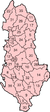 Map of the districts of Albania