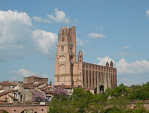 Albi Cathedral - View of Albi Cathedral