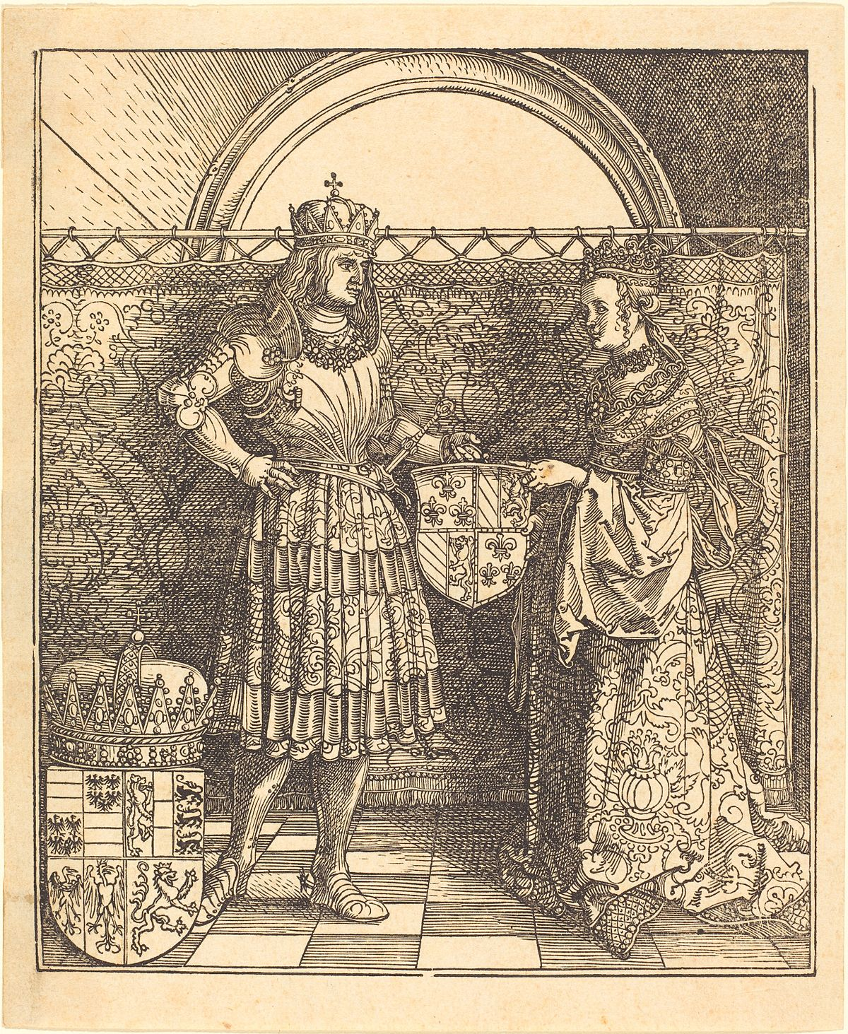 Albrecht Dürer - The Betrothal of Maximilian with Mary of Burgundy (NGA 1978.106.1).jpg