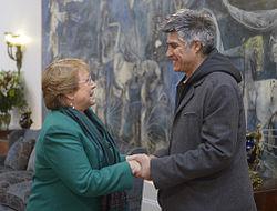 Alejandro Aravena and Michelle Bachelet 2015.jpg