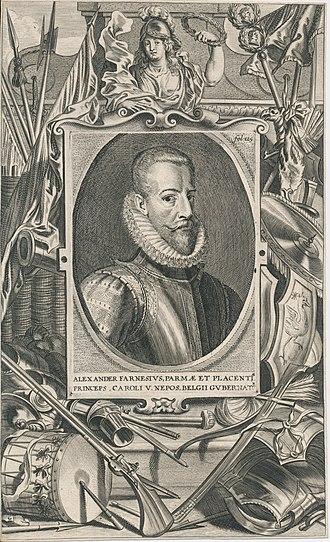 Alexander Farnese, Duke of Parma - Image: Alexander Farnese 1545 1592 Erfgoedcentrum Rozet 300 191 d 2 A 43