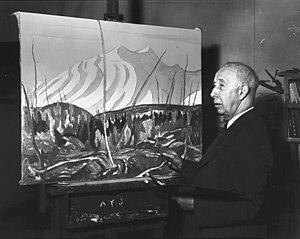 A. Y. Jackson - Jackson at work in Studio Building in Toronto