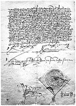 עותק חתום של צו הגירוש של יהודי ספרד