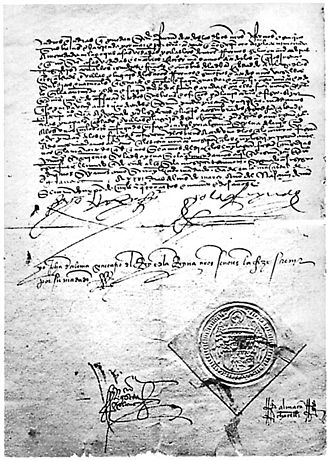 Alhambra Decree - A signed copy of the Edict of Expulsion