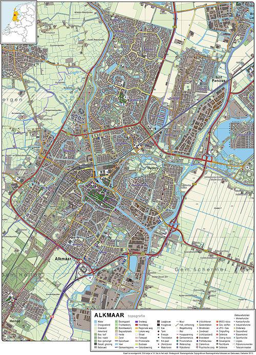 Alkmaar-topografie