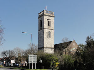 All Hallows, Twickenham - All Hallows Twickenham, as seen from the A316.
