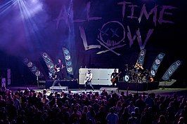 All Time Low spelen in Saratoga Springs, New York, 2016