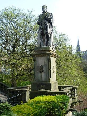 Allan Ramsay (poet) - Allan Ramsay Statue, Edinburgh