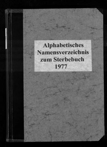 File:Alphabetisches Namensverzeichnis zum Sterberegister des Standesamtes Minden, 1977.djvu