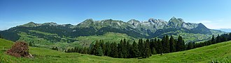 Alpstein - A view of the Alpstein from the south.