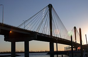 Alton, Illinois - The Clark Bridge, connecting Alton to West Alton, Missouri