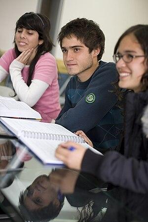 Español: Alumnos de la UP