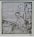Amsterdam - Rijksmuseum - Late Rembrandt Exposition 2015 - Sketch for the Portrait of Lieven Coppenol (small plate) c. 1658 A.jpg