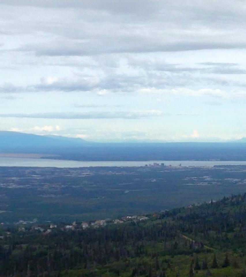 Anchorage, Alaska from Glenn Alps Trailhead