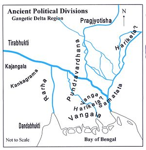 Pundravardhana - Image: Ancient Political Divisions