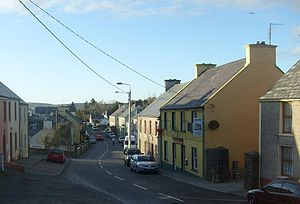 Creeslough - A view of Creeslough village, taken in 2008