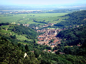 Andlau - Image: Andlau depuis le Spesbourg