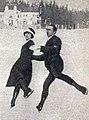 Andrée Joly et Pierre Brunet, troisièmes des JO de 1924 à Chamonix, en patinage artistique couple.jpg