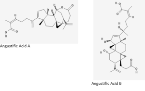 Angustific acid - Image: Angustific Acid A and B