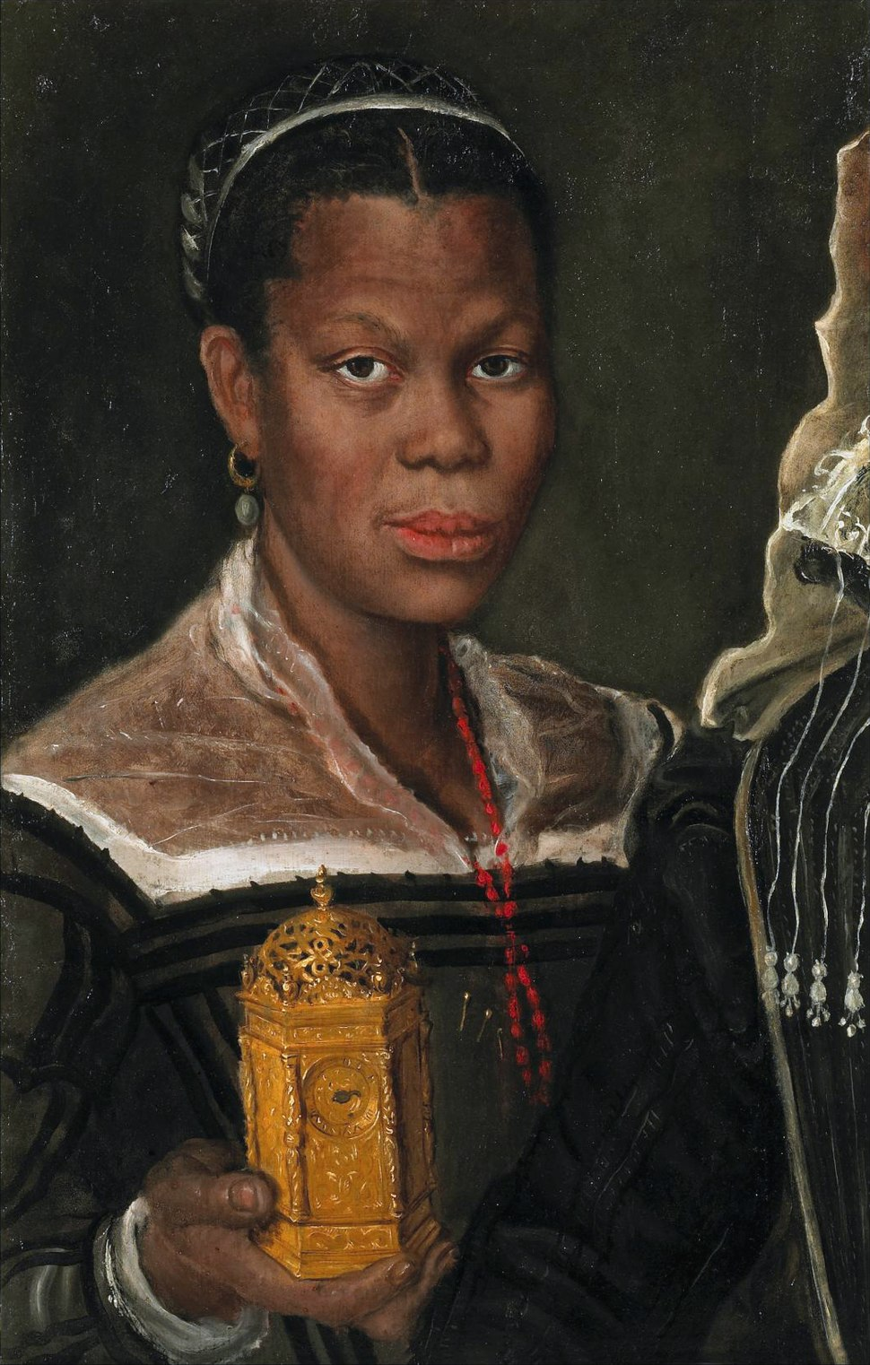 Annibale Carracci, attrib., Portrait of an African Slave Woman, ca. 1580s. Oil on canvas, 60 x 39 x 2 cm (fragment of a larger painting