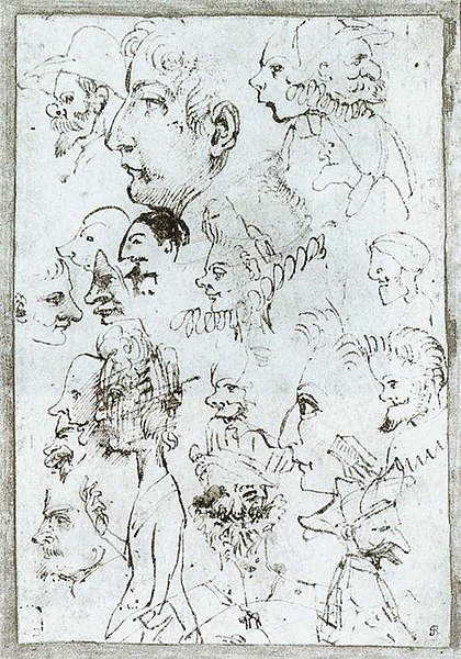 Berkas:Annibale Carracci - Sheet of caricatures - WGA04432.jpg