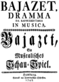 Anonymous - Bajazet - title page of the libretto - Hamburg 1748.png