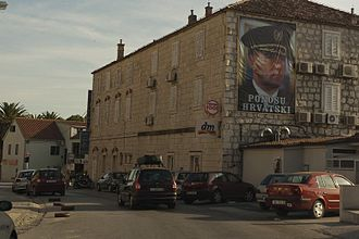 "Ante Gotovina - ""Croatian pride"", Makarska centre, September 2011"
