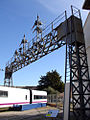 Antiguo puente de señales de la estación de Barcelona Francia en el Museu del Ferrocarril de Cataluña 1.JPG