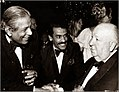 Anton Wickremasinghe, Chandran Rutnam and Alfred Hitchcock at the Academy Awards in Los Angeles.jpeg