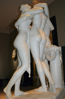 Antonio Canova (1757-1822) - The Three Graces, Woburn Abbey version (1814-1817) back half-right, Victoria and Albert Museum, August 2013 (11059826783).png