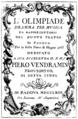 Antonio Sacchini - Olimpiade - titlepage of the libretto - Padua 1763.png
