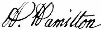 Andrew Hamilton (lawyer) - Image: Appletons' Hamilton Andrew signature