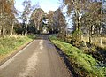 Approach to a sharp bend in public road - geograph.org.uk - 1032404.jpg